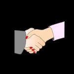 stretta mano